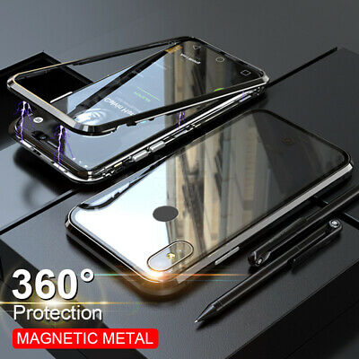 $5.99 • Buy For Xiaomi Redmi Note 9S 8T 8 Magnetic Adsorption Tempered Glass PC Case Cover