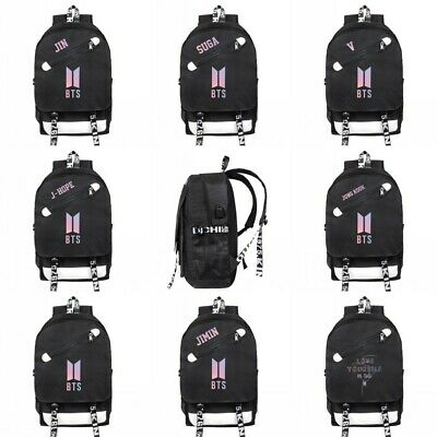 $26.44 • Buy BTS Bangtan Boys Backpack J-HOPE School Bookbag Student Travel Shoulder Bag