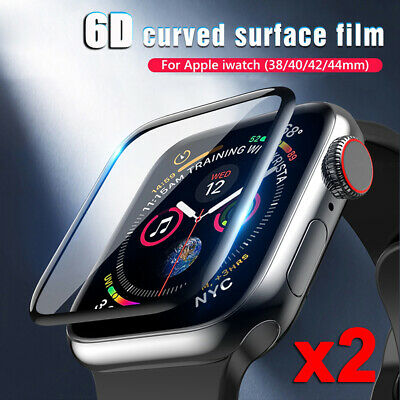 $ CDN5.42 • Buy 2x Tempered Glass Screen Protector For Apple Watch Series 4 3 2 1 38/40/42/44 Mm