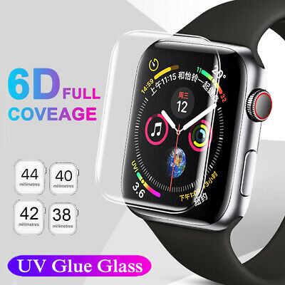 $ CDN3.93 • Buy For Apple Watch Series 5 4 3 2 UV Liquid Tempered Glass Screen Protector 42/44mm