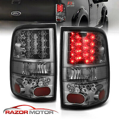 $99.69 • Buy 2004 2005 2006 2007 2008 Ford F-150 Pickup Smoke LED Rear Brake Tail Lights Pair