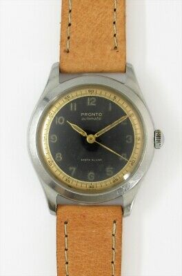 $ CDN2124.66 • Buy PRONTO Two Tone Arabic Numerals Dial Automatic Vintage Watch 1940's Overhauled