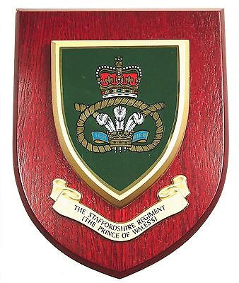 The Staffordshire Regiment Classic Genuine Hand Made In U Regimental Wall Plaque • 19.99£