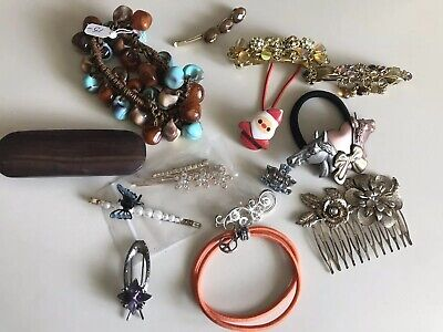 $ CDN17.72 • Buy Vintage- Present Crystal  Hair  Pins Clips Slides Grips Accessories Horse  Lot