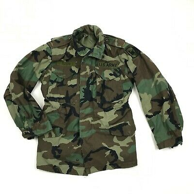 $31.34 • Buy VINTAGE M-65 Field Coat Military Jacket Mens Size S Camouflage Parka USA MADE