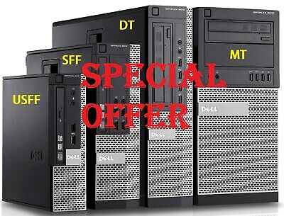 Dell Optiplex 790 3010 SFF USFF DT Desktop Business PC I7 I5 I3 SSD HDD Win 10 • 144.99£