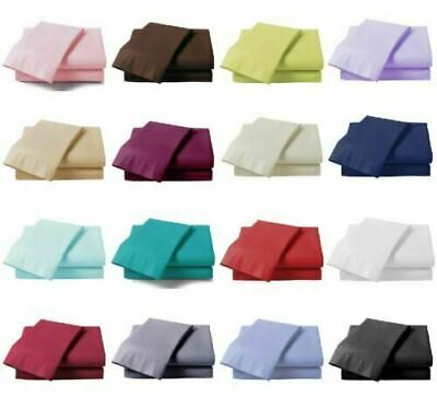100% Poly Cotton Fitted Sheets Flat Sheet Single Double King Super King Size • 7.90£