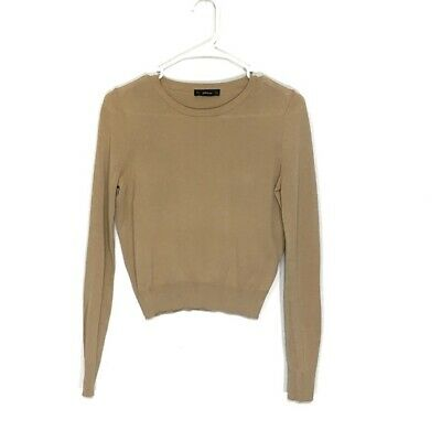 $29.99 • Buy Zara Knit Pullover Crop Top Light Sweater Tan Size Small
