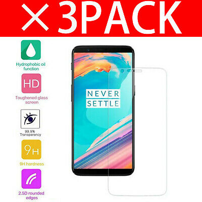 AU5.15 • Buy For OnePlus 5T 3D Full Cover Screen Protector Tempered Glass Clear