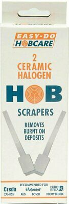 2 Ceramic Halogen Glass Hob Scrapers Cleaner Removes Burnt Deposits Hobcare  • 3.95£