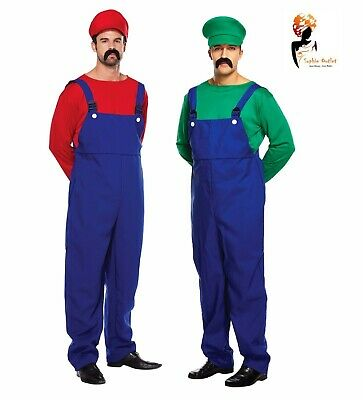 AU51.16 • Buy ADULT WORKMEN Men's Super Plumber Couples Outfits Fancy Dress Costume Stag Night
