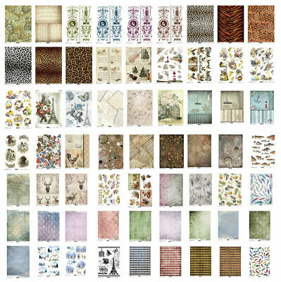 £1.99 • Buy Rice Paper For Decoupage Scrapbook Craft A4 Sheet Pictoral Pattern Animal