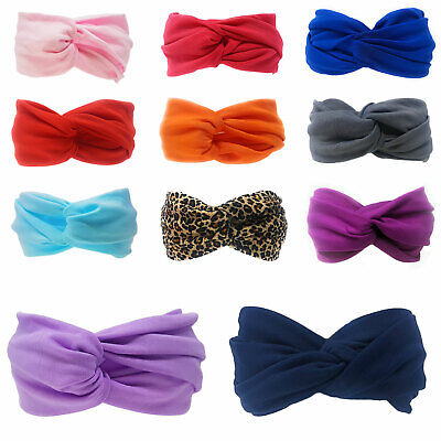 £2.49 • Buy Womens Twist Headband Knot Wrap Turban Twisted Knotted Hair Floral Satin Elastic