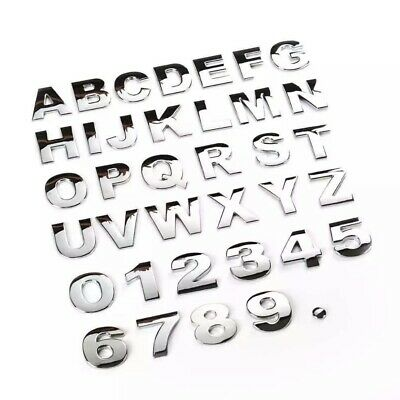 £0.99 • Buy Chrome Quality 3D Self-adhesive Letter Number Car Badge Sticker For Home & Auto.