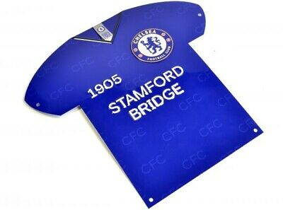 £9.95 • Buy Chelsea Football Club Official Shirt Shaped Metal Sign Wall Hanging Crest Badge
