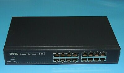 $25.50 • Buy DELL PowerConnect 2016 SYSTEMS 16 PORT RACK MOUNTABLE 10/100 ETHERNET SWITCH