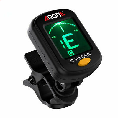 AU6.59 • Buy Useful Digital LCD Clip-On Electric Tuner For Bass/ Guitar/Ukulele Violin