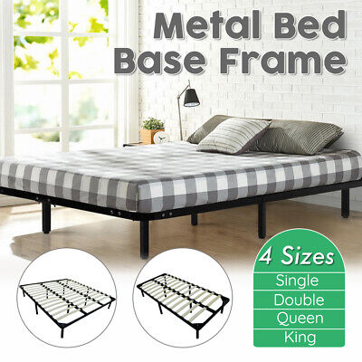 AU123.99 • Buy Single/Double/Queen/King Metal Bed Frame Mattress Base Timber Slat Support Home