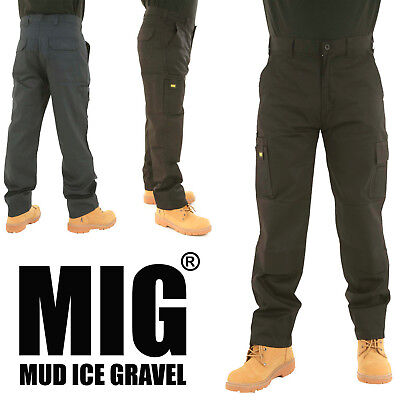 MIG Mens Cargo Combat Work Trousers With Multi Pockets & Knee Pads Pockets - MIG • 13.99£