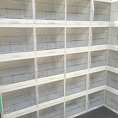 £89.99 • Buy 37  UPVC Plastic Double Breeding Cages With Divider - Budgie, Canary, Finch