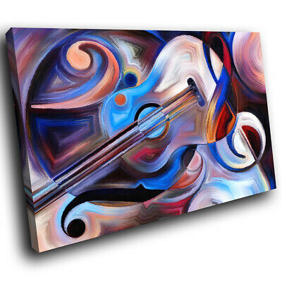 Blue Black Red Abstract Canvas Wall Art Large Picture Prints • 9.99£