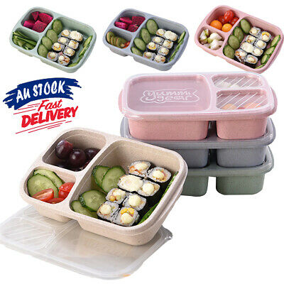 AU10.29 • Buy Bento Lunch Box Utensils Microwave EA Picnic SuShi Food Container Storage Box