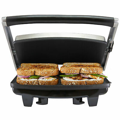 AU48.39 • Buy Cafe Press Stainless Steel 4 Slice 2 Sandwich Maker Grill Toasted Toaster