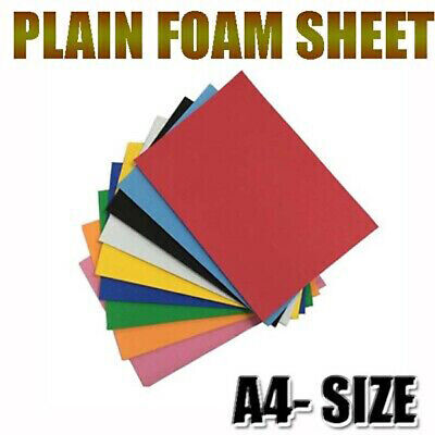 £3.25 • Buy A4 Multi Color Plain Foam Sheets Sponge Rubber Extra Sticky Non Adhesive DIY