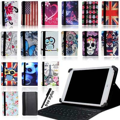 Leather Stand Cover Case +Bluetooth Keyboard For Samsung Galaxy Note 8.0 / 10.1 • 12.99£