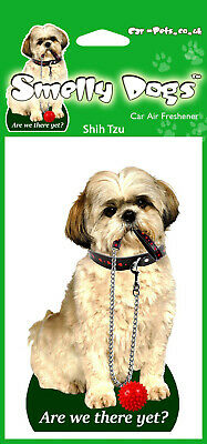 £3.90 • Buy 2 X Shih Tzu Breed Of Dog Design With Lead Fragrant Air Freshener Perfect Gift
