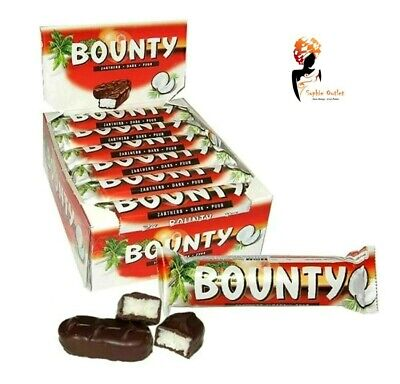 BOUNTY DARK CHOCOLATE Bars 57g X 24 Full Case Box Free Delivery Cheapest • 24.35£