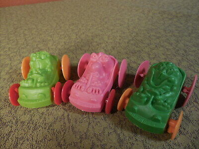 Set Of 3 Vintage FREAKIES Cereal Balloon Racer Cars Mail Away Premiums  • 10$