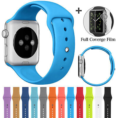 $ CDN4.59 • Buy Silicone Band Strap Sport Watch Band For Apple IWatch Series 4 1 2 3 38/42mm ZYS