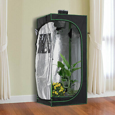 £37.99 • Buy Outsunny 60*60*140cm Indoor Plant Grow Tent Green Room Hydroponic Canopy Mylar