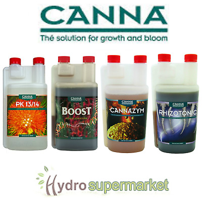 Canna Additives Boost, Pk 13/14 Rhizotonic Cannazym Flush Start Calmag 1l 5l 250 • 15.95£