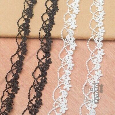 £1.59 • Buy Pretty Flowers Embroidered LACE TRIM Sewing Ribbon Craft Headband C6