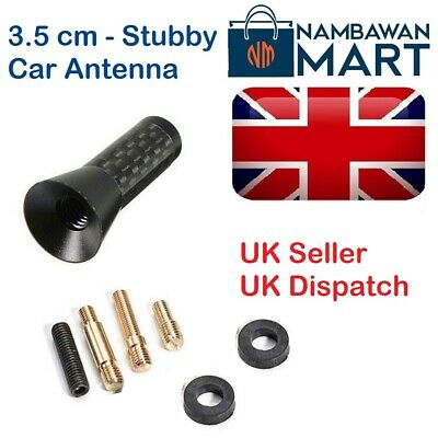 BLACK Carbon Car AERIAL Bee Sting Mast Antenna Mini Radio Stubby 3.5 Cm AUTO1040 • 4.49£