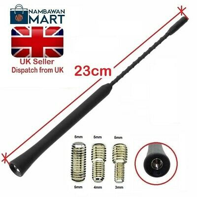 BLACK Car Roof AERIAL Bee Sting Mast Antenna Flexible Radio 23 Cm 9  - AUTO1043 • 2.75£
