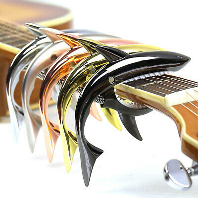 $ CDN22.25 • Buy Metal Shark Guitar Capo Sound Change Clips For Wood Electric Acoustic Guitars