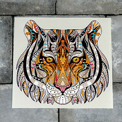 £2.99 • Buy Stained Glass Style Tiger Vinyl Sticker Decal Wall Car Van  - SKU6181