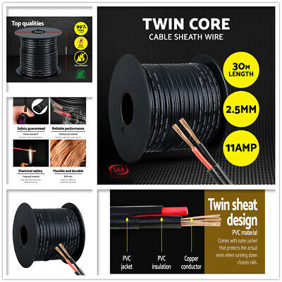 AU29 • Buy 2.5MM Electrical Cable Twin & Earth Core Extension Wire Car Boat Home 12V 30M AU