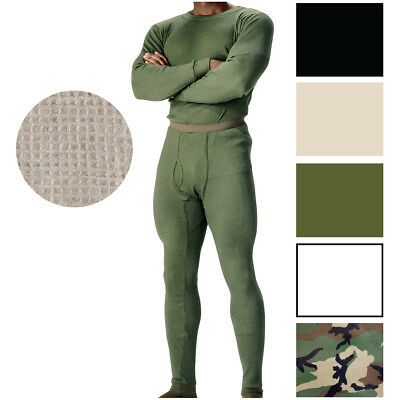 $17.99 • Buy Military Thermal Knit Underwear Cold Weather Long Johns Waffle Warm Base Layer