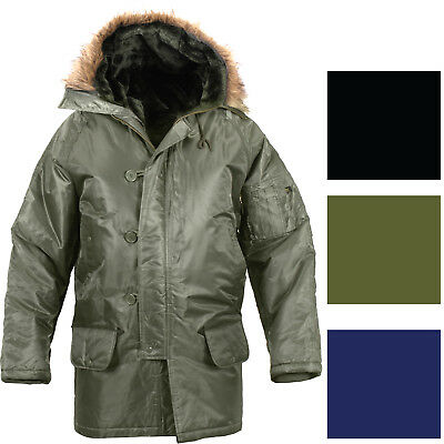 $ CDN105.26 • Buy Cold Weather N-3B Military Snorkel Parka Jacket Long Insulated N3B Winter Coat