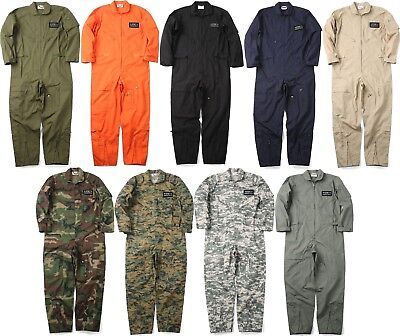 $54.99 • Buy Military Uniform Flight Suit Air Force Style Fighter Coveralls Jumpsuit + Patch