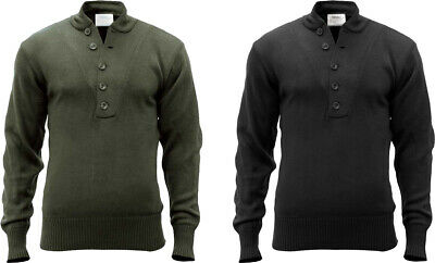 $38.99 • Buy Tactical Acrylic Solid 5 Button Fitted Army Sweater