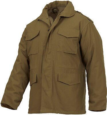 $90.99 • Buy Z SsCoytoe Brown Military M-65 Field Coat Army M65 Jacket With Liner