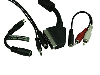 S-video Male + Audio Male To Scart Male With 10m Heavy Duty Cable • 7.99£