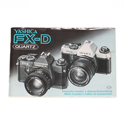 Yashica Fx-D Quartz Manual/Instruction Manual By Dealers • 9.02£