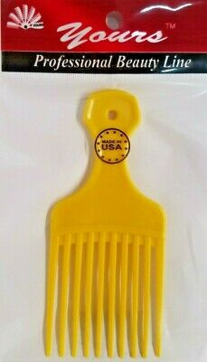 $6.49 • Buy YOURS MADE IN THE USA Yellow 12 Pcs Afro Pik Pick Professional Hair Comb Pocket