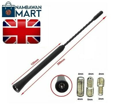 BLACK Car Roof AERIAL Bee Sting Mast Antenna Flexible Radio 28 Cm 11  - AUTO1044 • 2.75£